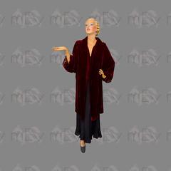 1920s Burgundy Velvet Cocoon Open Front Opera Flapper Jacket Coat by Jays Ltd London (Rickenbackerglory.) Tags: vintage 1920s burgundy velvet cocoon openfront operacoat flapper jaysltdlondon siegel mannequin