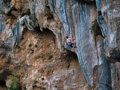 No Money No Dance, 7c, Geyikbayiri, Turkey (Vivien Jouan) Tags: escalade climbing geyikbayiri turkey turquie trebena trebenna olympus 75mm micro four third m43 panasonic gx7
