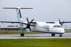 Flybe - Bombardier Dash 8-402 G-ECOA @ Cardiff (Shaun Grist) Tags: gecoa flybe be dash8 dhc8402 shaungrist cwl egff cardiff cardiffairport cardiffrhoose rhoose wales airport aircraft aviation aeroplanes airline avgeek