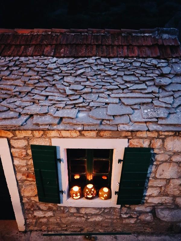 Halloween in Zastrazisce, Hvar, Croatia.