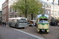 Back to the fifties (Maurits van den Toorn) Tags: tram tramway tranvia strassenbahn villamos pcc htm bus autobus streekbus leyland werkspoor nzh bolramer denhaag thehague
