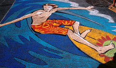 Surfer (wwimble) Tags: pastels streetart viacolori shortnorth columbus ohio surfer surfboard surfing 2009