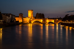 Verona city at night (PhotoVision by Pavel Rezac) Tags: ancient antique architecture arena art blue bridge building castle cathedral church city cityscape color colosseum dusk europe evening famous garden historical illuminating illumination italian italy landmark light medieval night nighttime old outdoors place reflection river romantic shine square stone street summer sunset tourism tower town travel twilight verona view water