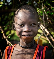 Mundari Tribe (Rod Waddington) Tags: africa african afrique afrika south sudan mundari tribe traditional tribal cattle camp girl culture cultural child portrait people bush