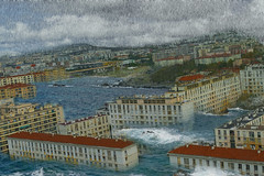 Marseille under the water … (Le.Patou) Tags: marseille provence bouchesdurhône city water rain town waves cityscape underwater flood montage photomontage cityview fz1000 jsslll joke trick talltale galéjade rainy hss