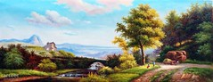 Route De Campagne, Art Painting / Oil Painting For Sale - Arteet™ (arteetgallery) Tags: arteet summer sky tree art grass clouds landscape artwork fine paintings arts canvas oil park trees plant field rural forest season outdoors countryside spring scenery meadow environment autumn cloud water leaves oak natural outdoor horizon country scenic sunny scene agriculture travel sun fall yellow river outside landscapes leaf day seasonal lawn land paint lakes cyan rivers lime pastorals