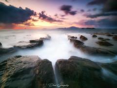 + (danixmen) Tags: laowa 75mm wide angular beach playa mar sea rocks rocas amanecer sol sun long exposure larga exposicion olympus em1ii dawn nubes clouds burning cielo sky