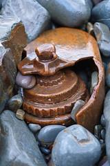 """Working with Fire and steel"" (Livesurfcams) Tags: patina rusty steel iron pebbles reclaimed abandoned devon fuji fujifilm bucksmills xh1 35mm"