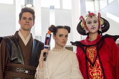 Star Wars Halloween (aaronrhawkins) Tags: halloween costume starwars anakin skywalker queen amadala princess leia pose byu engineering building students blaster movie erik molly aaronhawkins