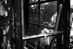 A look through windows (Nikon F80) (stefankamert) Tags: film analog windows analogue grain blur blurry noir noiretblanc blackandwhite blackwhite bw stefankamert nikon f80 voigtländer voigtlander ultron mood tones 1218 ilford hp5