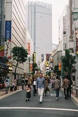我が道 (Architecamera) Tags: filmphoto snap street shinjuku skyscraper people color film