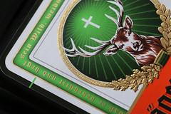 Jägermeister (Patrick ~J~) Tags: jägermeister macromondays brandandlogos spirit herbs shots logo label stag cross colours 2019 detail