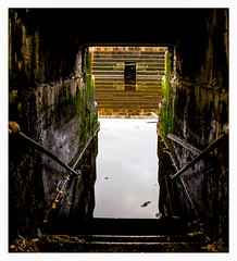 """""""The Entrance"""" Govan Graving Dock (ianmiddleton1) Tags: glasgow water stairs history industry"""