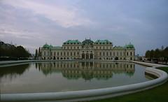 The Upper Belvedere at Dusk (Wolfgang Bazer) Tags: oberes upper belvedere south front südfassade teich spiegelung pond reflection schloss barockschloss barock baroque palace wien vienna österreich austria