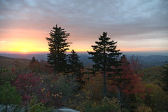 More Autumn On The Parkway - 102519-074411 (Glenn Anderson.) Tags: overlook linncoveviaduct blueridgeparkway fallcolor morninglight pointofinterest morning sunshine northcarolina distantclouds autumndisplay rollinghills