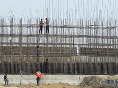 on the road, india (gerben more) Tags: workers workmen road ontheroad india rajasthan