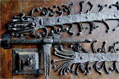 details, door......Monastery of Santa María de Meira (atsjebosma) Tags: coth5 monastery santamariademeira spain spanje 1143 meira atsjebosma details door ancient antiek oud old