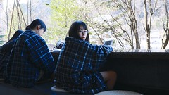 SAKURAKO sits in a hot foot spa. (MIKI Yoshihito. (#mikiyoshihito)) Tags: japan sakurako 櫻子 さくらこ 娘 daughter サクラコ 長女 11歳 eldestdaughter jozankeionsen 温泉 定山渓温泉 定山渓 hokkaido sapporo