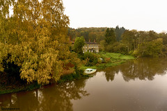 On Kirkham Abbey Bridge (mydoghasnono.se) Tags: kirkham autumn trees abbey leaves rural river garden countryside yorkshire country kirkhamabbey