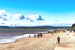 Autumn sunshine on Exmouth beach, Devon (cjhill1969) Tags: sand sea beach exmouth devon sunshine autumn