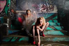 Circus of horror (CAR TREV) Tags: portrait ukengland2019 godox light graffiti smoke blue red circus horror models 18105mm sony sonya6500