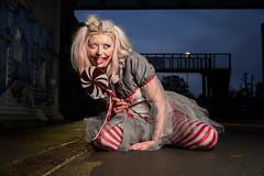 Zombie girl (CAR TREV) Tags: sonya6500 a6500 england uk 2019 lowkey models alpha lens blue dress red portrait sky sony circus