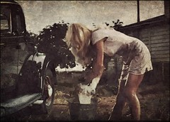 Washing the old Ford (novice09) Tags: slidersunday hss screenshot manlipulated textures fotosketcher ipiccy photoscape