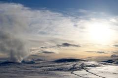 Islanda: caldera del Krafla (margot 52) Tags: islanda iceland krafla vulcano caldera tramonto neve