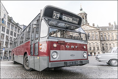 1977 DAF-Hainje SB201 CSA-1 Citybus (Chris 1971) Tags: daf 0850xb htm 319 sb201 dkdl554 hainje stadsbus csa1 citybus haagsbusmuseum hbm amsterdam damplein 1977