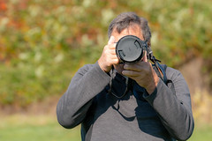 When you bring along a second camera and your spotter.... (SusieMSB7) Tags: camera autumn portrait nature colours