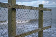 """The higher you build your barriers"" (Livesurfcams) Tags: surf fence barrier devon bucksmills fuji fujifilm xh1 35mmf14"