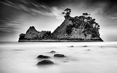 Rocky-Island- (petefoto) Tags: pongapongaisland newzealand whangapoua coromandel rocky seascape island longexposure waikato trees leefilters09sgrad bwnd110filter elitegalleryaoi bestcapturesaoi aoi