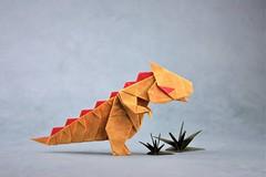 Dinosaur - Jang Yong Ik (pierreyvesgallard) Tags: origami dinosaur jang yong ik paper papercraft animal