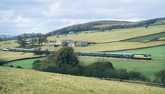 The Cracoe Jack Near Hagg Farm. (Neil Harvey 156) Tags: railway 56049 haggfarm rylstonebranch cracoejackrailtour railtour 1z50 class56 dutchlivery transrail grid
