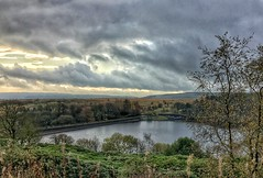 """Continuing our """"couch to 5k"""" training programme. We like this venue...it's flat (Andreadm66) Tags: landscape yorkshire reservoir halifax ogden westyorkshire countrypark ogdenwater iphone"""