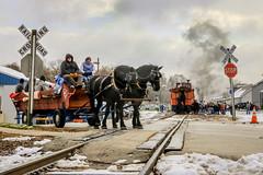 Schlesingerville to Slinger (sdl39hogger) Tags: wsor watco wisconsinsouthern slinger schlesingerville sooline1003 horses horseandbuggy wagon