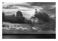 FILM - Distant shores (fishyfish_arcade) Tags: 35mm 800asa analogphotography bw blackwhite blackandwhite filmphotography filmisnotdead hp5 hull istillshootfilm monochrome olympusom1 zuiko75150mmf4 analogcamera film ilford mono pushed humberestuary clouds landscape