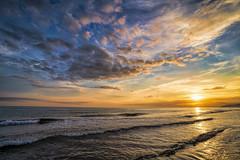 Calm Evening, Soft Breeze - Barcelona... (StarCitizen) Tags: barcelona spain epic sunset sea waves calm evening