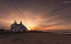 The Pint & Sunset (Captain Nikon) Tags: whitstable kent southeast sunset oldneptunepub beach coastal