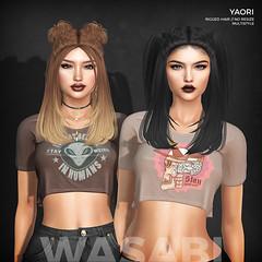 New Yaori hair @ Anthem! (Wasabi // Hair Store) Tags: 3d mesh hair secondlife wasabipills mlla izzies warpaint kitja pinkfuel maitreya catwa insol kibitz vinyl aviglam league