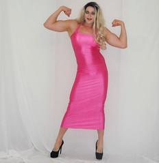 Crossdresser Muscles (queen.catch) Tags: crossdresser youtubevideo catchqueenyoutube lycradress heels hosiery legsfordays muscles fitness bodycon doublebicep flexing feminization ladyboy dragqueen