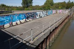 Graffiti on the Thames (SReed99342) Tags: london uk england graffiti thames river riverfront