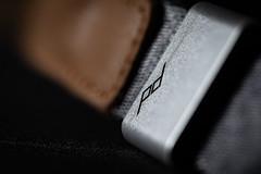 HMM - Peak Design (arnaud.porterie) Tags: macromondays brandandlogos peakdesign cuff wriststrap accessory dark anodized aluminum leather macro