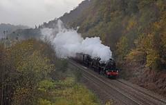 Didn't go has planned (garstangpost.t21) Tags: eastwood 44871 45407 black5 class5mt blackburn wakefieldkirkgate caldervalley gloom dull autumn