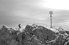 Zugspitze - Germany's highest peak 2962m (eucalli) Tags: eucalli einfarbig zugspitze 2962 blackandwhite bw blackwhite germany mountain bavaria nikonfx nikondigital nikon d810 tamron nikonfxshowcase monochrome monochrom wettersteinmountains