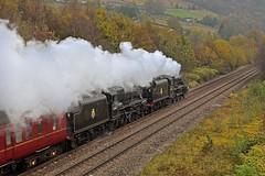 Full Steam Ahead in the Calder Valley (garstangpost.t21) Tags: 45407 44871 black5 britishrailways autumn colours blackburn wakefieldkirkgate caldervalley