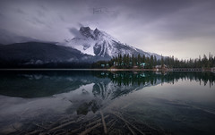 Emerald Lake (Toni_pb) Tags: emeraldlake clouds contrast canadianrockies canada nikkor1424f28 nikon nature reflection rockies water waterscape wild winterscape winter wildlife