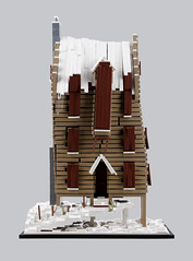 Harry Potter – The Shrieking Shack H (Xenomurphy) Tags: lego moc bricks afol harrypotter shriekingshack prisonerofazkaban whompingwillow remuslupin siriusblack hogsmeade architecture haunted werewolf