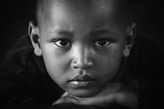You Will Never Know (u c c r o w) Tags: maasai child children portrait blackandwhite student eyes siyahbeyaz africa african tanzania arusha school class