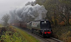 In the Gloom (garstangpost.t21) Tags: eastlancsrailway 34092 lumb elr steamloco steam